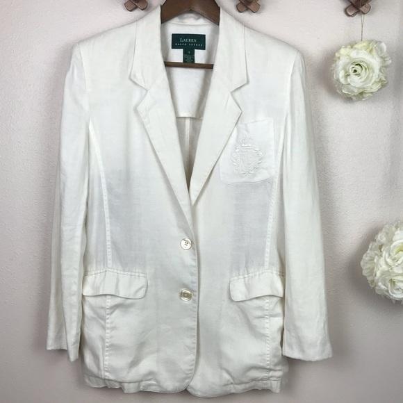 Lauren Ralph Lauren Jackets & Blazers - Lauren Ralph Lauren White Oversized Blazer